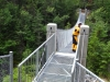 White River suspension bridge, Pukaskwa National Park